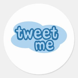 tweet me (twitter) classic round sticker