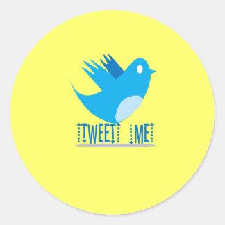 Tweet ME @ Your Tweet Address Classic Round Sticker