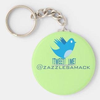 Tweet ME @ Your Tweet Address Keychain