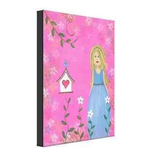 Tweet Moments - 16x20 Bird House Kids Wall Art Canvas Print