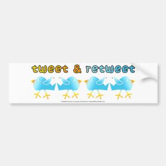 Tweet & Retweet Bumper Sticker Car Bumper Sticker