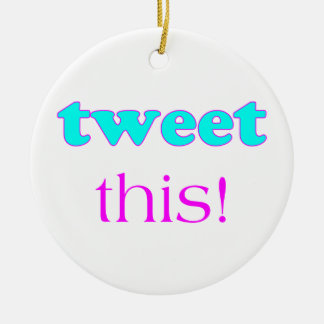 Tweet This Christmas Ornaments