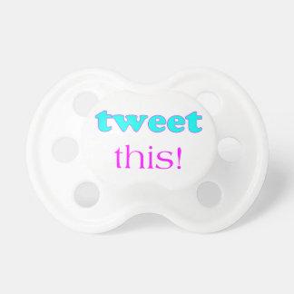 Tweet This Baby Pacifier