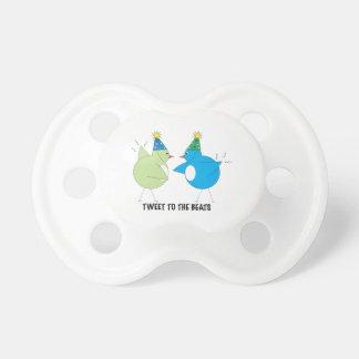 Tweet To The Beats Baby Pacifier