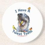 Tweet Tooth Bird Dog Beverage Coasters