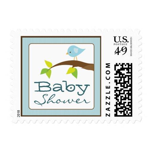 tweet tweet baby shower invitation stamps blue postage stamp zazzle