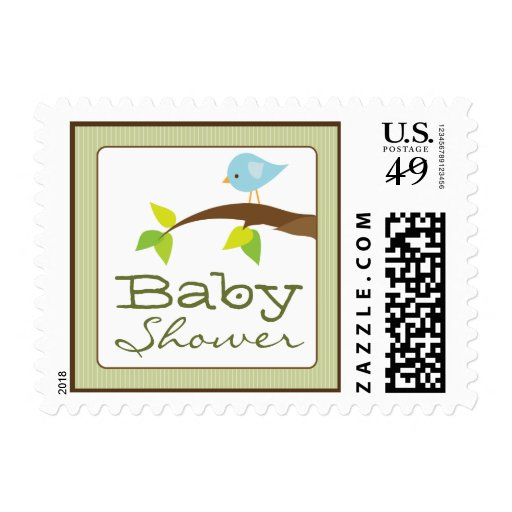 tweet tweet baby shower invitation stamps sage postage stamp zazzle