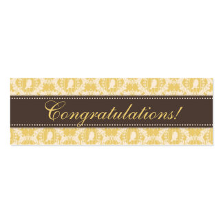 Tweet Tweet Baby Skinny Gift Tag 3 Business Card