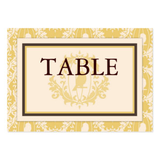 Tweet Tweet Baby Table Card Flat Mini Business Card Template