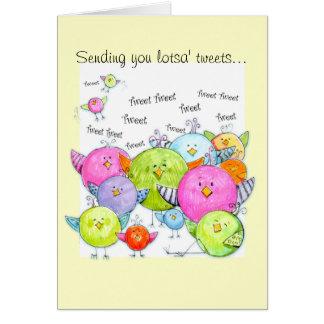 Tweet Tweet Birthday/ friendship card