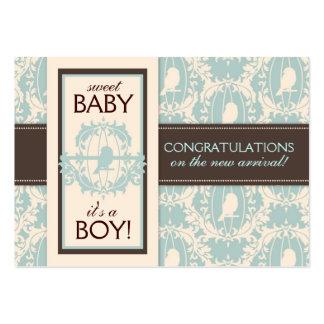 Tweet Tweet Boy Gift Tag Business Cards