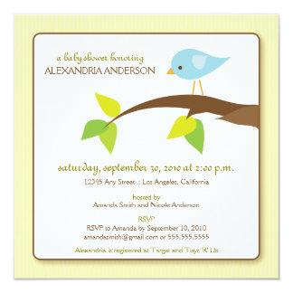 Tweet Tweet Custom Baby Shower Invitation (creme)