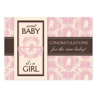 Tweet Tweet Girl Gift Tag Business Card Templates