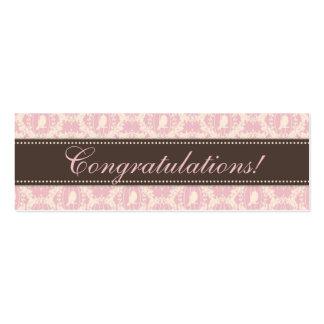 Tweet Tweet Girl Skinny Gift Tag 3 Business Card Template
