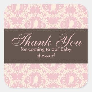 Tweet Tweet Girl Square Sticker