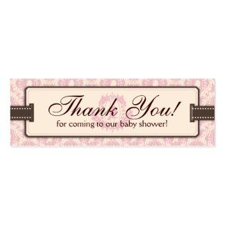 Tweet Tweet Girl TY Skinny Gift Tag Business Card Template