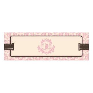 Tweet Tweet Pink Skinny Gift Tag 2 Business Card Templates