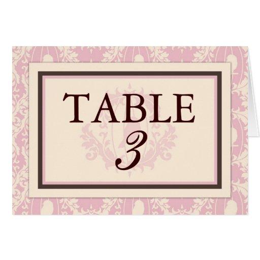 Tweet Tweet Pink Table Card C