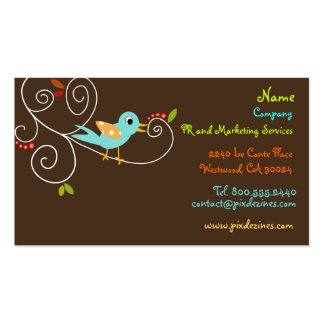 Tweet, tweet.. SEO Marketing Business cards