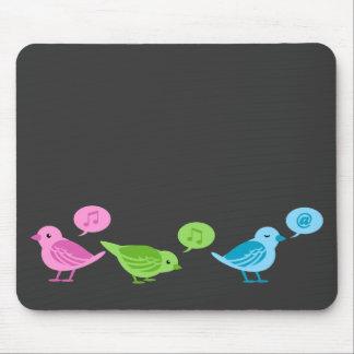Tweet-Tweet-Tweet Funny twitter birds Mouse Pad
