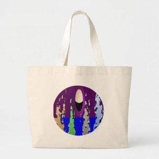 Tweet World - Sweet World Large Tote Bag