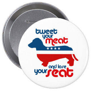 Tweet your meat and lose your seat - pinback button
