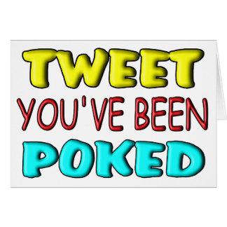 Tweet You've Been Poked Card