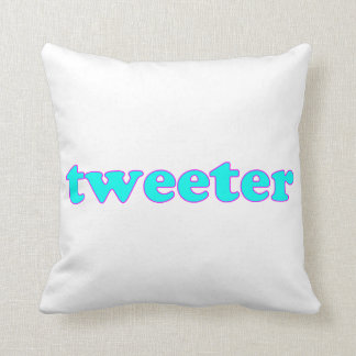 Tweeter Throw Pillow