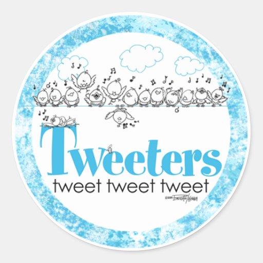 Tweeters tweet - tweet - tweet stickers