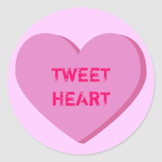 Tweetheart Conversation Heart Sticker sticker