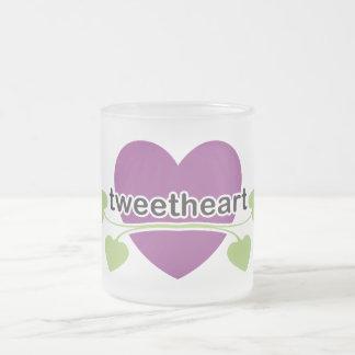 TweetHeart Frosted Glass Coffee Mug