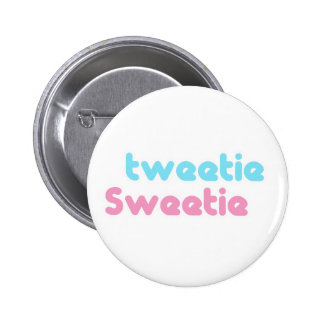 tweetie sweetie 2 inch round button