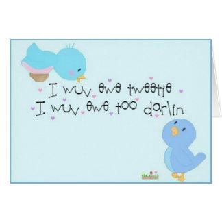 Tweetie y Darlin Tarjeton