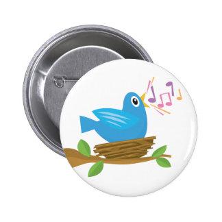 Tweeting Bird Button