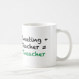 Tweeting + Teacher = Tweacher Coffee Mug
