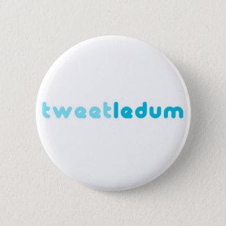 tweetledum pinback button
