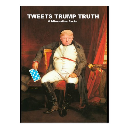 Tweets Trump Truth Postcard