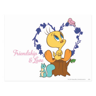 "Tweety ""amistad y amor "" postal"