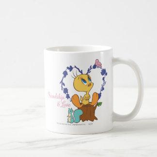 """Tweety """"amistad y amor """" taza de café"""