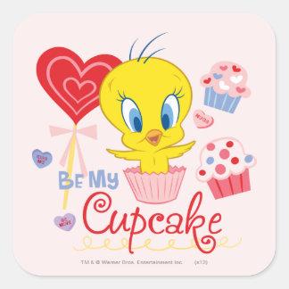 TWEETY™ Be My Cupcake Square Sticker