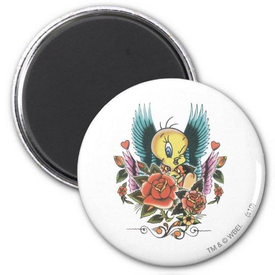 Tweety Blue Wings 2 Inch Round Magnet