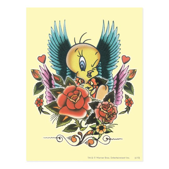Tweety Blue Wings Postales