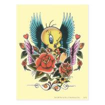 Tweety Blue Wings Postcard