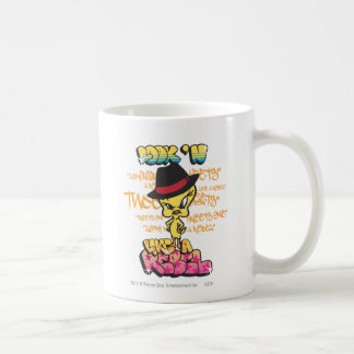 Tweety como un rebelde taza de café