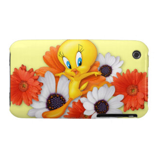 Tweety con las margaritas Case-Mate iPhone 3 funda