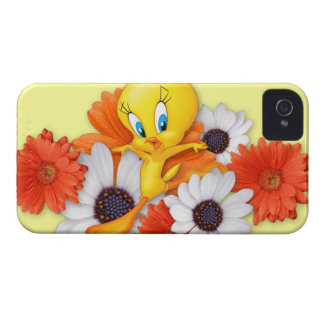 Tweety con las margaritas iPhone 4 Case-Mate protector