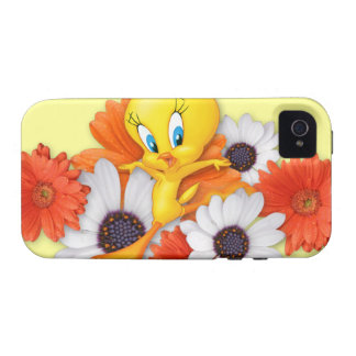 Tweety con las margaritas iPhone 4 carcasa