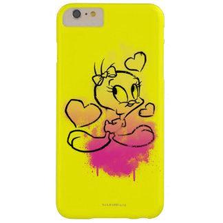TWEETY™ con los corazones Funda Barely There iPhone 6 Plus