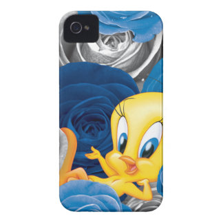 Tweety con los rosas iPhone 4 Case-Mate protector