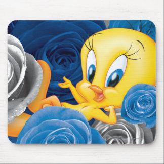 Tweety con los rosas tapetes de ratón